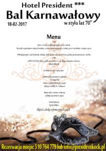 Bal karnawałowy menu